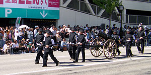 Battle of Aizu - Image: Cannoneers in 2006 Aizu parade