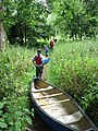 Canoeists on footpath - geograph.org.uk - 880313.jpg