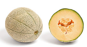 Description de l'image  image:Canteloupe and cross section.jpg.