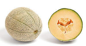 Cantaloupe - Cantaloupe in cross-section