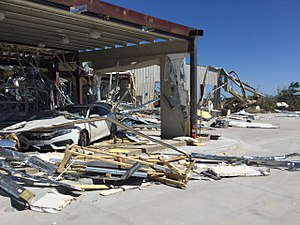Tornado outbreak and floods of April 28 – May 1, 2017 - Remains of the Dodge dealership that was destroyed along I-20 to the east of Canton, TX