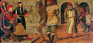 Francesco Bonsignori - Bonsignori: Captive Kings before a Judge. York Museums Trust. (1480)