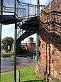 Car park stair-tower seen under Yaroslavl footbridge - geograph.org.uk - 1554104.jpg