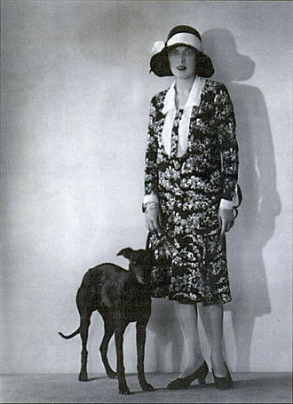 Caresse Crosby - Caresse Crosby and her whippet, Clytoris