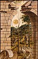 Carlo crivelli, madonna della rondine, post 1490, da s. francesco a matelica, predella 06 adorazione del bambino 3.jpg