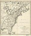 Carte de l'Amérique septentrionale, depuis la baye d'Hudson jusqu'au Mississipi- pour servir aux essais historiques et politiques sur la révolution de cette partie du monde. LOC 75693501.jpg
