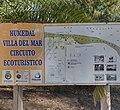 Cartel especificando el circuito ecoturístico sobre los humedales en la localidad de Villa del Mar.jpg