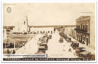 McAllen–Hidalgo–Reynosa International Bridge - Bridge's opening day celebration on 10 July 1926 in the plaza of Reynosa, Mexico.