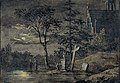 Caspar David Friedrich - Zwei Männer in Betrachtung des Mondes (Aquarell).jpg