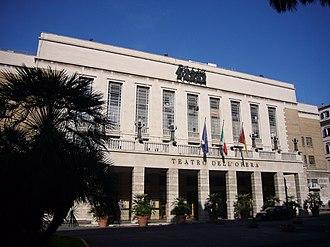 Teatro dell'Opera di Roma - Facade of the Teatro dell'Opera.