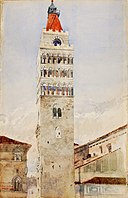 Cathedral Tower, Pistoia, Italy SAAM-1962.13.35 1.jpg