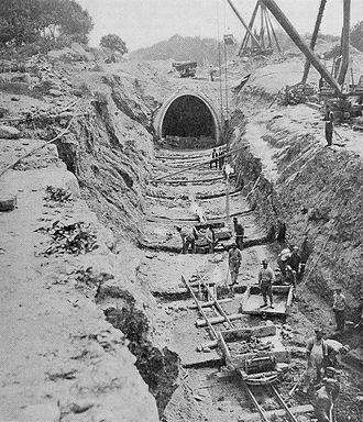 Catskill Aqueduct - Construction of Catskill Aqueduct, 1911