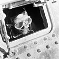 Cecil Beaton portrait of a British tank driver peering out of his Grant tank in North Africa, 1942. CBM1781.jpg