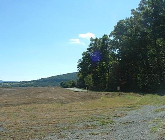 Charles Sidney Winder - Approximate location at Cedar Mountain battlefield where Gen. Winder was standing when mortally wounded by a Union shell. Facing south.