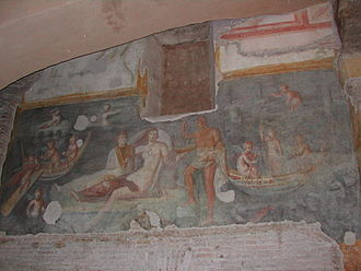 Santi Giovanni e Paolo al Celio - A fresco in the Roman rooms