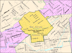 Census Bureau map of Dunellen, New Jersey