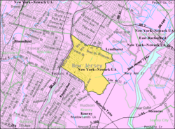 Census Bureau Map Of North Arlington New Jersey