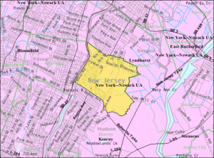North Arlington, New Jersey - Image: Census Bureau map of North Arlington, New Jersey