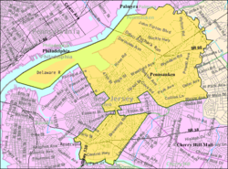 Census Bureau map of Pennsauken Township, New Jersey Interactive map of Pennsauken, New Jersey