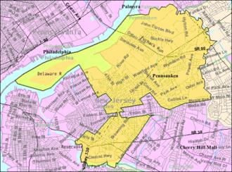 Pennsauken Township, New Jersey - Image: Census Bureau map of Pennsauken Township, New Jersey