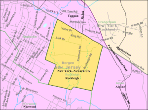 Rockleigh, New Jersey - Image: Census Bureau map of Rockleigh, New Jersey
