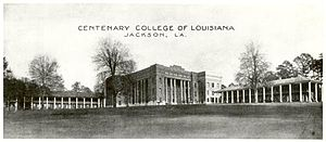 Centenary College of Louisiana - Centenary College in Jackson, Louisiana, circa 1900