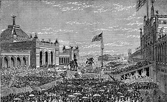 Centennial Exposition - Opening day ceremonies at the Centennial Exhibition