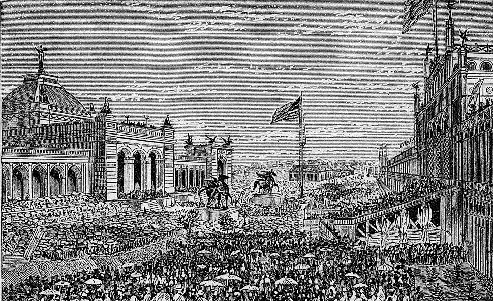 Centennial Exhibition, Opening Day