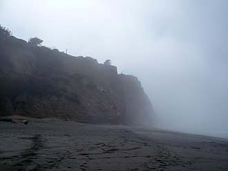 California Historical Landmarks in Humboldt County - Image: Centerville Beach Cross Cliff