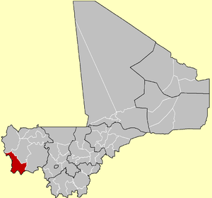 Location of Kéniéba Cercle in the Kayes Region of Mali