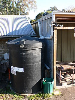 Some of the rainwater tanks around CERES Community Environment Park ...