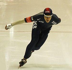 Chad Hedrick - Hedrick at a world cup speedskating event in Heerenveen, the Netherlands