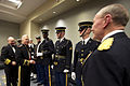 Chairman of the Joint Chiefs of Staff U.S. Army Gen. Martin E. Dempsey, right; Commandant of the Marine Corps Gen. James Amos, second from left; and Commandant of the Coast Guard Adm. Robert Papp, left, meet 130121-A-TT930-018.jpg
