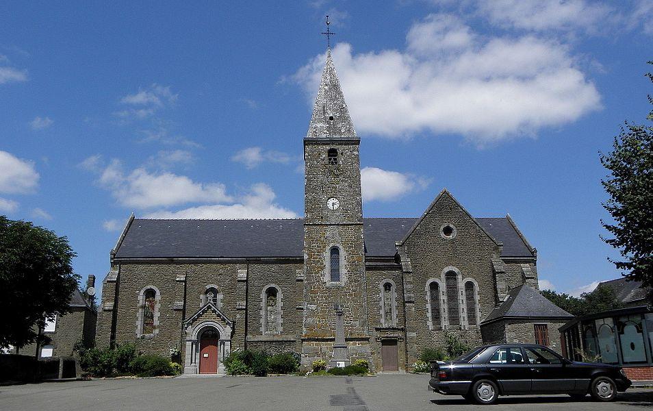 Église Saint-Médard de Champéon (53).
