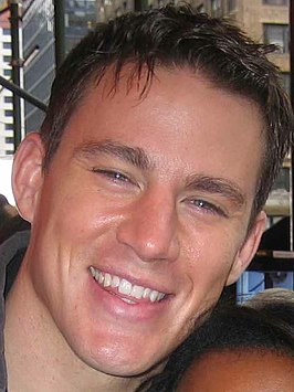 Channing Tatum op de set van Fighting (2008)