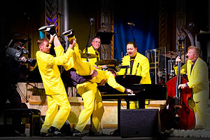 English: The Jive Aces in concert