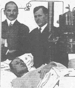 Charles Moyer - Moyer under X-ray at St. Luke's Hospital in Chicago