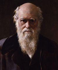 Detail from Portrait of Charles Darwin by John Collier