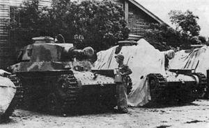 Type 97 ShinHoTo Chi-Ha - IJN Short Barrel 120 mm Gun tanks at the Naval Yard in Sasebo