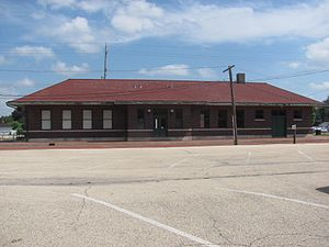 National Register of Historic Places listings in Fulton County, Illinois - Image: Chicago, Burlington and Quincy Railroad Depot, Canton, Illinois