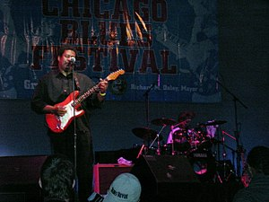 Chicago Blues Festival - A Blues Festival performer plays jazz