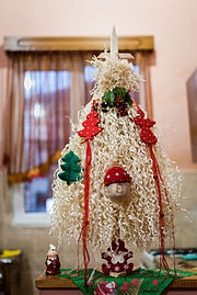 Chichilaki Georgian christmass tree.jpg