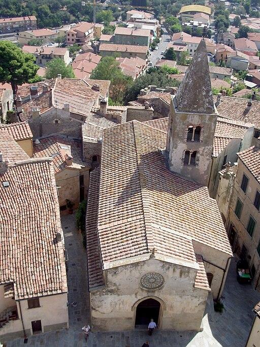 Chiesa di San Nicola dalla Torre della Rocca Aldobrandesca Capalbio