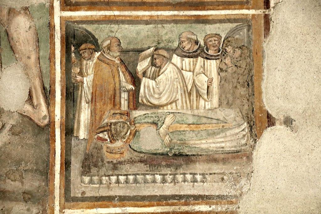 Parte degli affreschi attribuiti a Bartolo di Fredi e Taddeo di Bartolo, Chiesa di San Francesco (Lucignano)