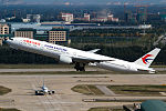 China Eastern Airlines Boeing 777-300ER rotates at Beijing Capital.jpg
