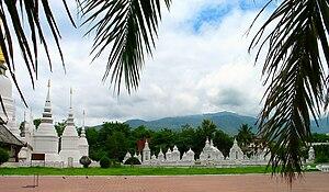 Chet Ton Dynasty - The Royal cemetery of the Chet Ton Dynasty at Wat Suan Dok, Chiang Mai.
