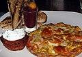 Chorizo frittata breakfast (3056372894).jpg