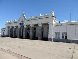 Train station of Choir, Mongolia, 2013