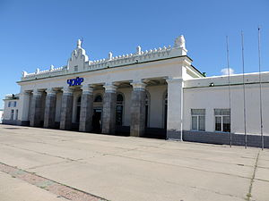 Choir, Mongolia - Train station of Choir, Mongolia, 2013