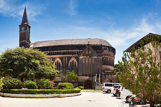 Anglican Church of Tanzania - View of the cathedral of Christ Church, Zanzibar.